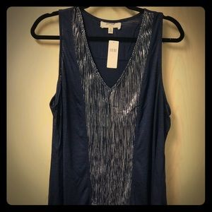 Anthropologie V neck Tank XL